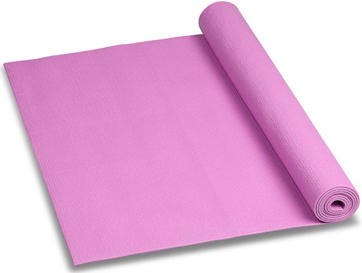 Коврик для йоги и фитнеса Indigo, розовый, 173 х 61 х 0,3 см коврик для йоги onerun цвет фиолетовый 183 х 61 х 0 4 см