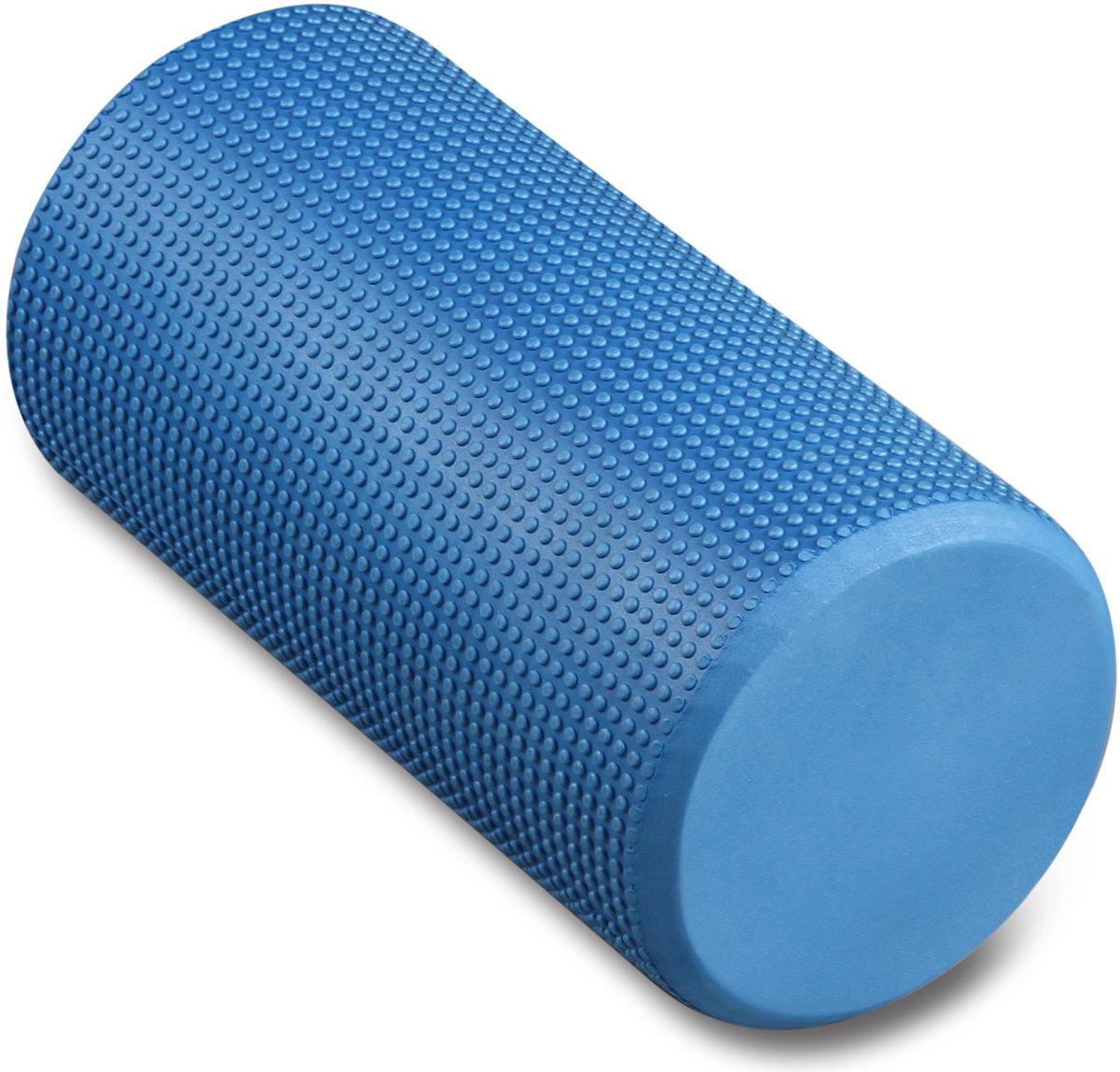 Ролик массажный для йоги Indigo, голубой, 15 х 30 см ролик массажный torneo электрический