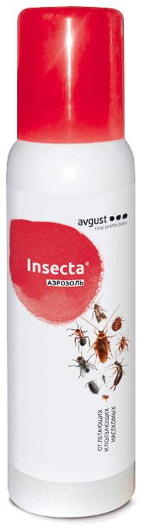 Уничтожитель насекомых Август Insecta, аэрозоль, для помещений,750 мл рейд аэрозоль мгновенного действия против летающих ползающих насекомых 300мл лаванда
