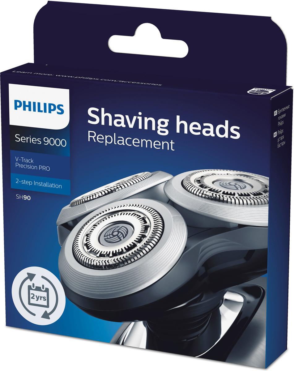 Бритвенная головка Philips Series 9000, SH90/70, черный, серебристый Philips