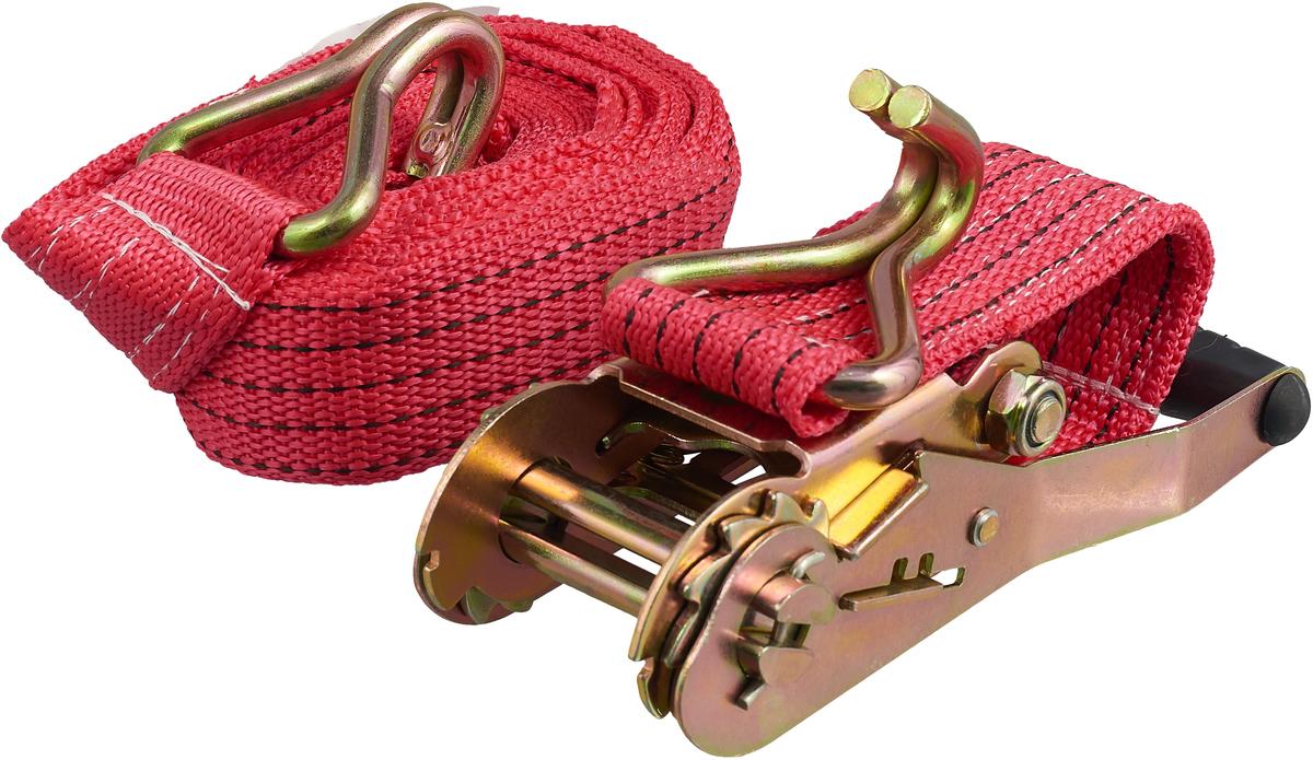 Ремень крепления груза Топ Авто, 6 м, красный ремень крепления груза топ авто ширина ленты 50 мм 2500 5000 кг 10 м механизм 230 мм