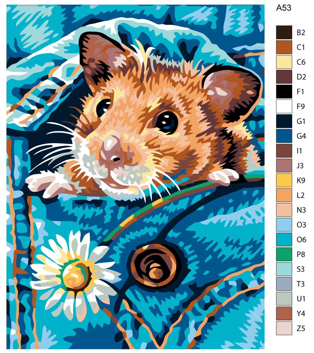 Набор для создания картины Живопись по номерам A53A53Количество красок от 18 до 24. Картина раскрашивается без смешивания красок. Высококачественные акриловые краски собственного производства сделают вашу картину яркой и уникальной. Все необходимые материалы есть в комплекте: натуральный хлопковый холст, натянутый на деревянный подрамник, баночки с акриловыми красками на водной основе, 3 кисти из качественного нейлона, схема раскрашивания, инструкция. Просто закрашивайте участки красками с соответствующим номером.