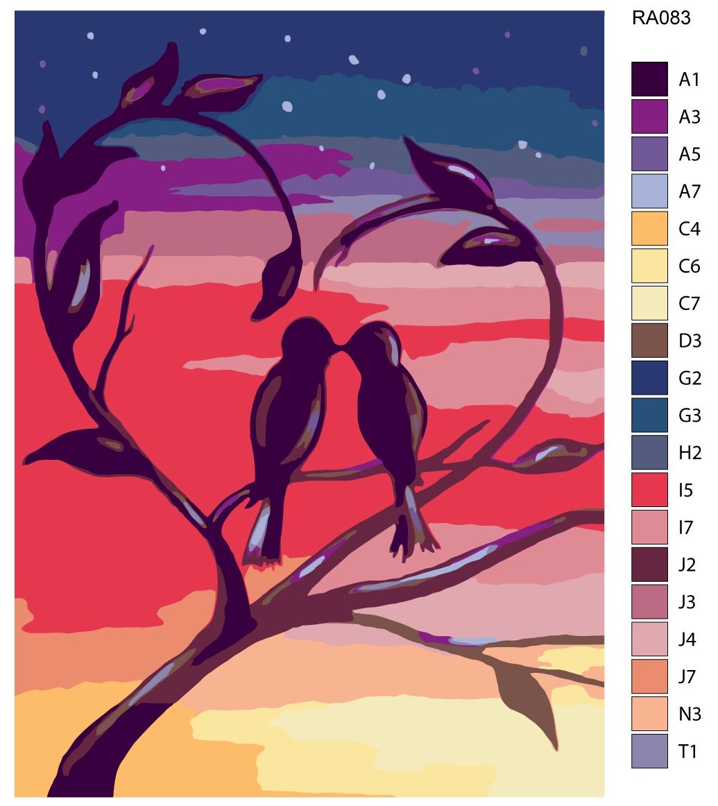 Набор для создания картины Живопись по номерам RA083RA083Количество красок от 18 до 24. Картина раскрашивается без смешивания красок. Высококачественные акриловые краски собственного производства сделают вашу картину яркой и уникальной. Все необходимые материалы есть в комплекте: натуральный хлопковый холст, натянутый на деревянный подрамник, баночки с акриловыми красками на водной основе, 3 кисти из качественного нейлона, схема раскрашивания, инструкция. Просто закрашивайте участки красками с соответствующим номером.