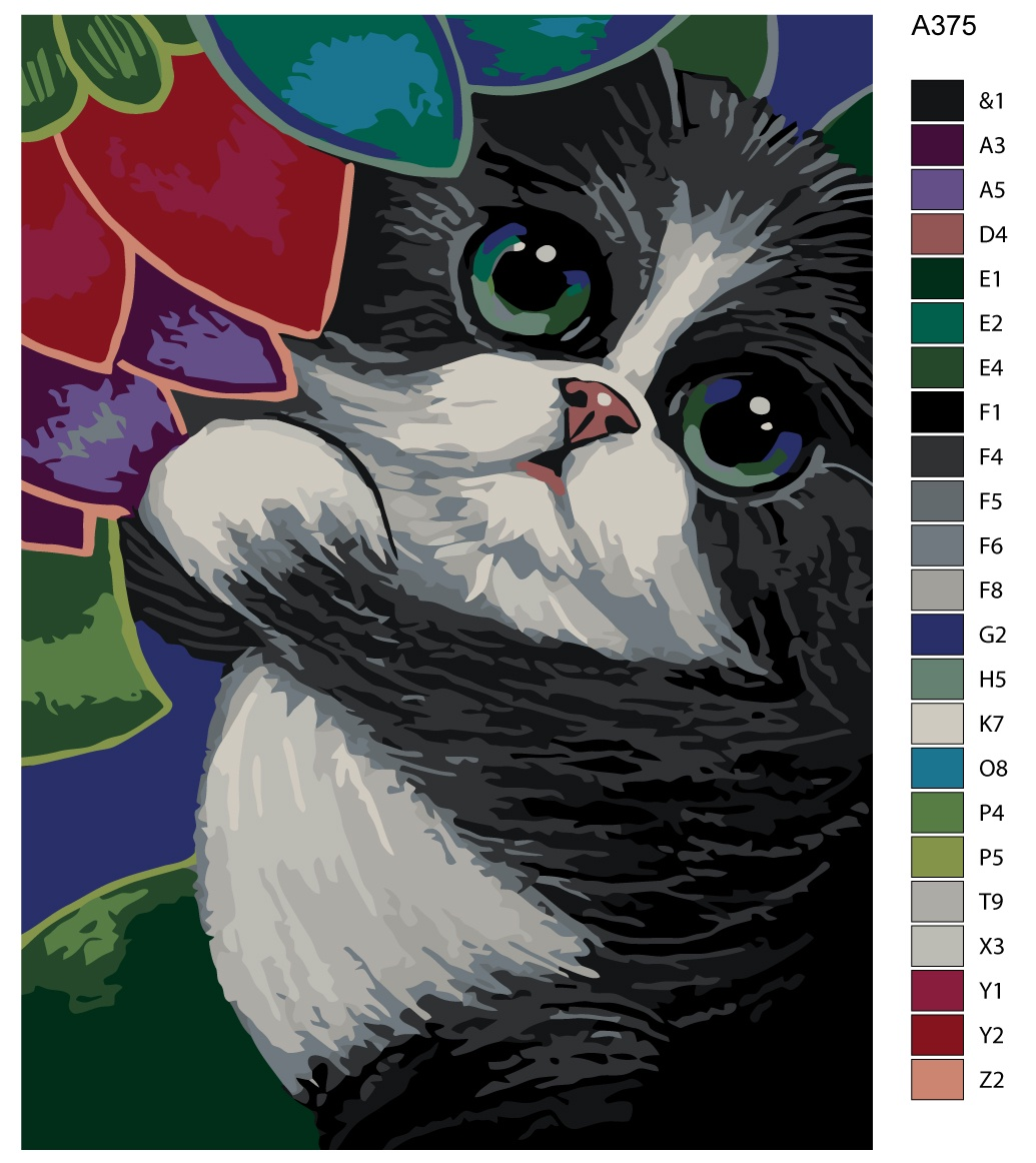 Набор для создания картины Живопись по номерам A375A375Количество красок от 18 до 24. Картина раскрашивается без смешивания красок. Высококачественные акриловые краски собственного производства сделают вашу картину яркой и уникальной. Все необходимые материалы есть в комплекте: натуральный хлопковый холст, натянутый на деревянный подрамник, баночки с акриловыми красками на водной основе, 3 кисти из качественного нейлона, схема раскрашивания, инструкция. Просто закрашивайте участки красками с соответствующим номером.
