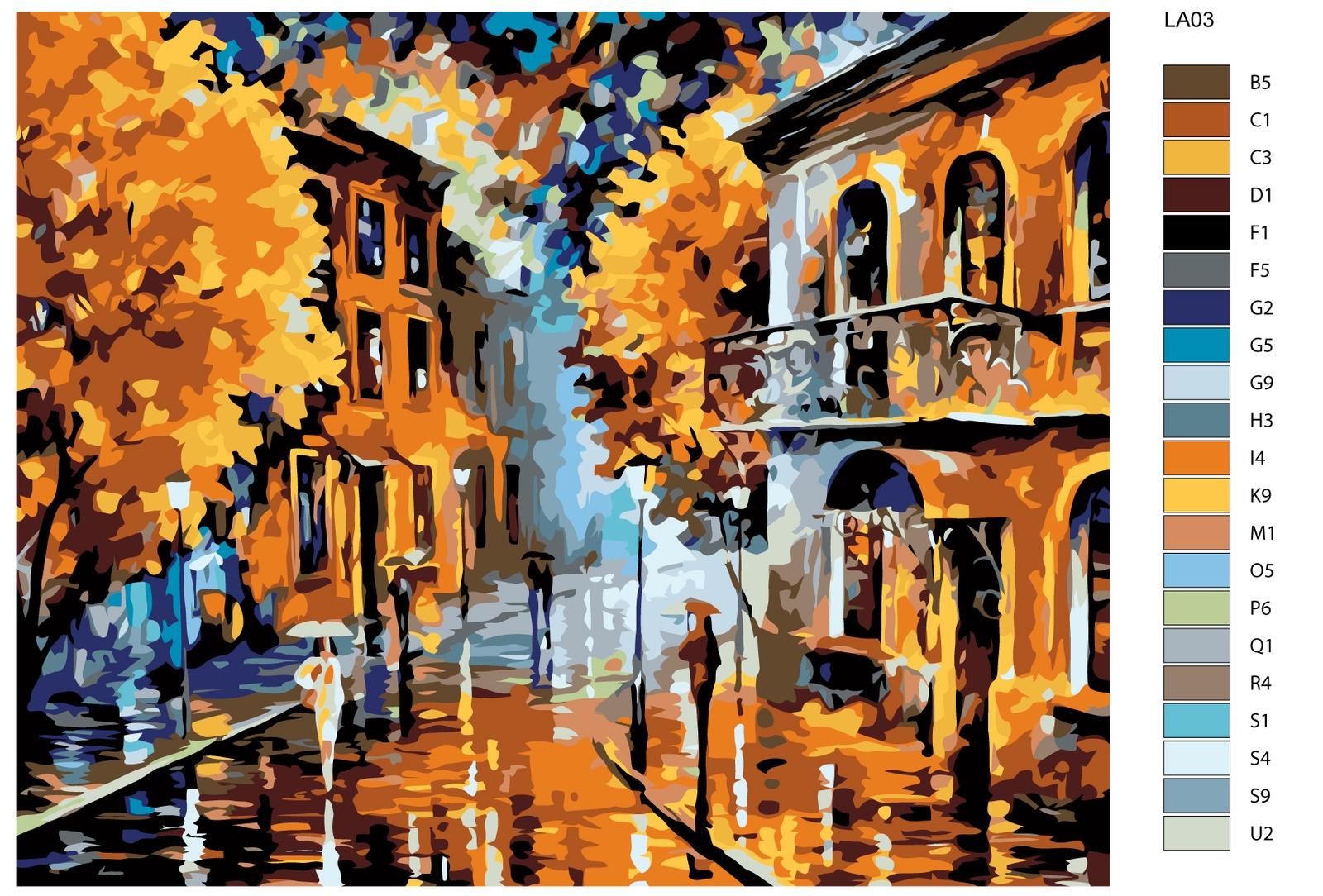 Набор для создания картины Живопись по номерам LA03LA03Количество красок от 18 до 24. Картина раскрашивается без смешивания красок. Высококачественные акриловые краски собственного производства сделают вашу картину яркой и уникальной. Все необходимые материалы есть в комплекте: натуральный хлопковый холст, натянутый на деревянный подрамник, баночки с акриловыми красками на водной основе, 3 кисти из качественного нейлона, схема раскрашивания, инструкция. Просто закрашивайте участки красками с соответствующим номером.