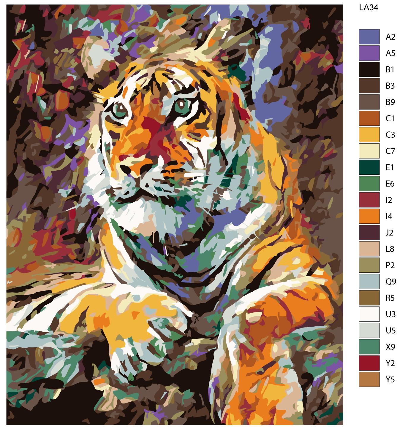 Набор для создания картины Живопись по номерам LA34LA34Количество красок от 18 до 24. Картина раскрашивается без смешивания красок. Высококачественные акриловые краски собственного производства сделают вашу картину яркой и уникальной. Все необходимые материалы есть в комплекте: натуральный хлопковый холст, натянутый на деревянный подрамник, баночки с акриловыми красками на водной основе, 3 кисти из качественного нейлона, схема раскрашивания, инструкция. Просто закрашивайте участки красками с соответствующим номером.