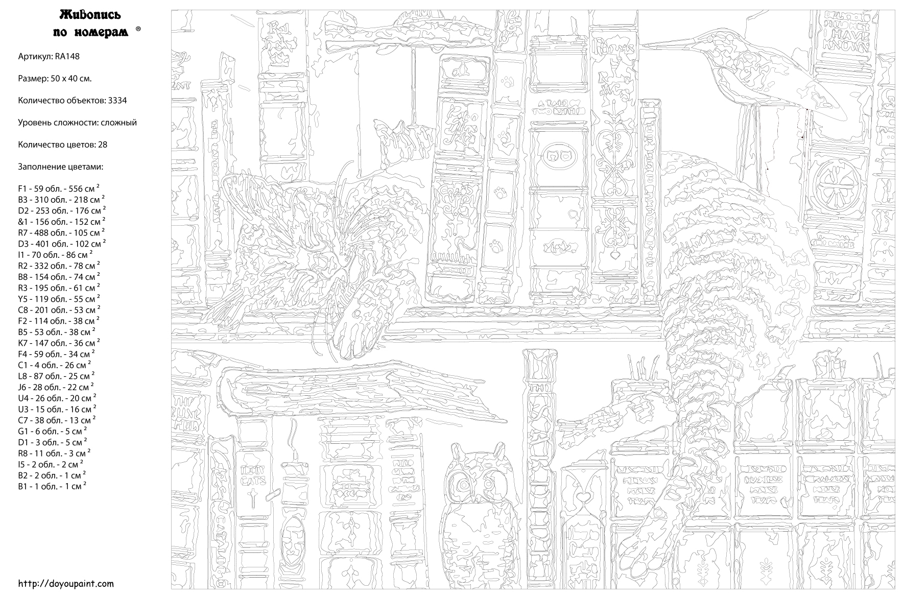 Картина по номерам, 40 x 50 см, RA148 Живопись по номерам