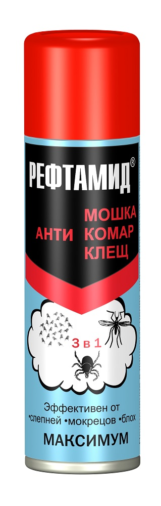 Средство от насекомых Рефтамид Максимум, 5-03.09.122.01, 147 мл от комаров рефтамид
