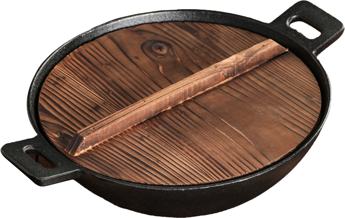 Сковорода-вок Хемминг, с крышкой, 2586423, черный. Диаметр 26 см