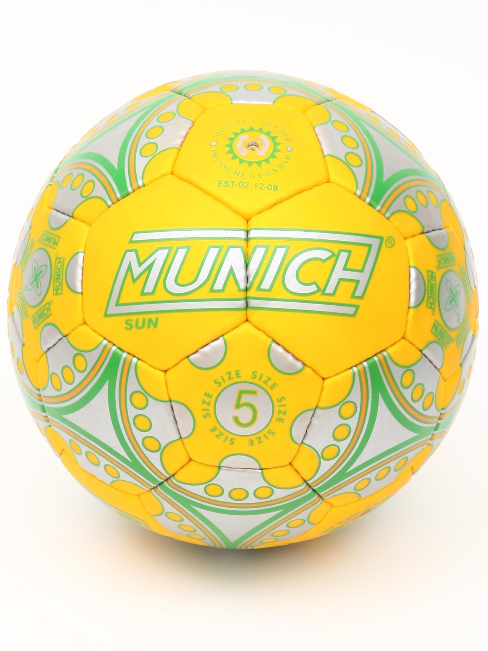 Мяч футбольный MUNICH Мяч футбольный SUN №5, желтый lumion 3083 1w ln16 000 темный хром стекло метал декор бра e14 1 40w 220v aria
