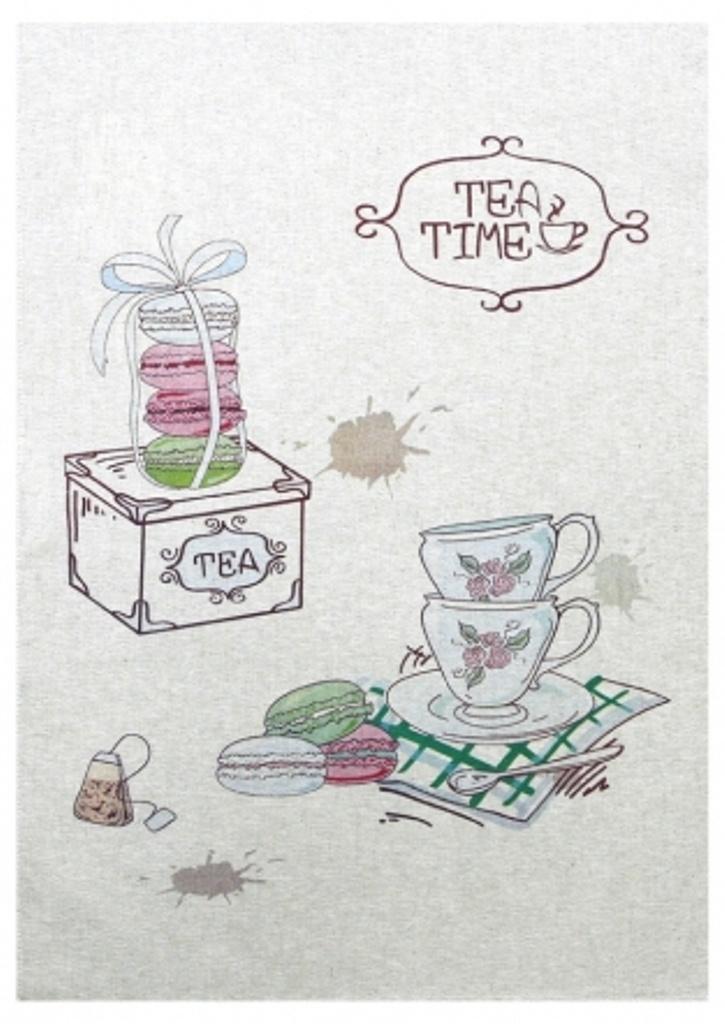Полотенце кухонное Белорусский лен 17с336/Время Чая-3, серый, зеленый17с336/Время Чая-3Состав: 60 % хлопок 40 % лен