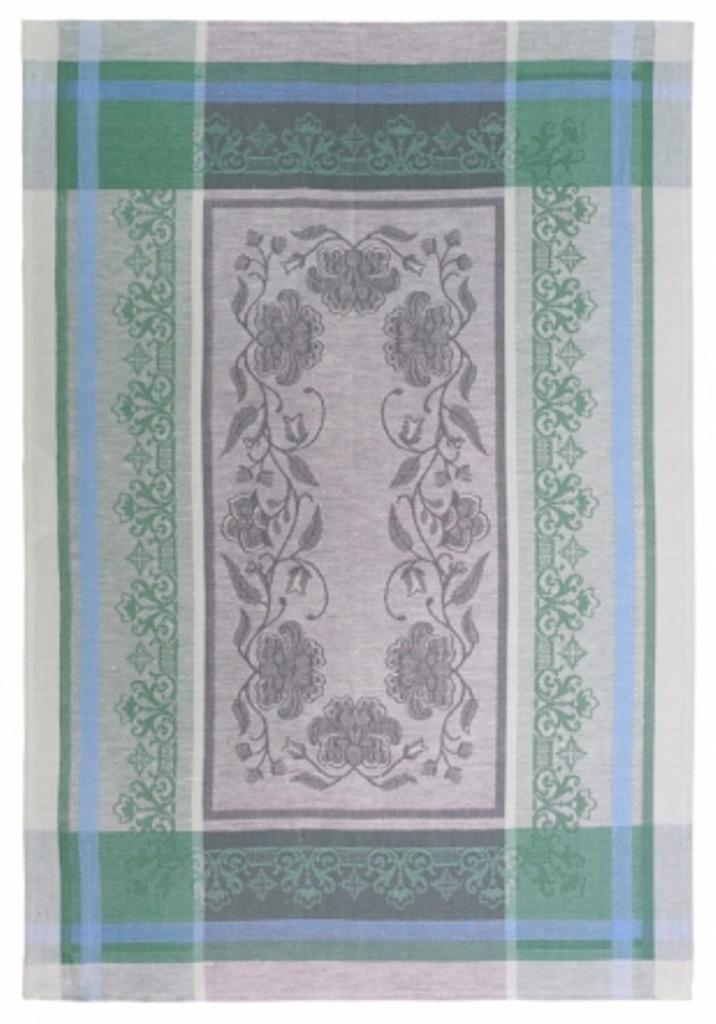 Полотенце кухонное Белорусский лен 17с102/Традиция-2/зеленый, зеленый, светло-серый