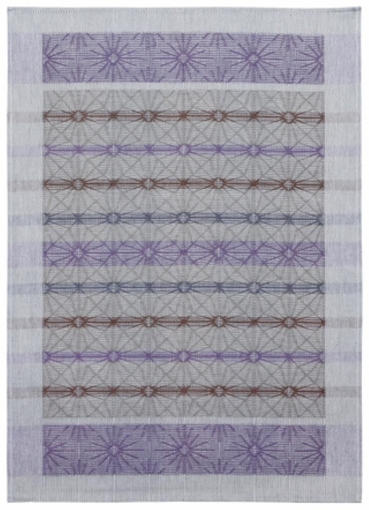 Полотенце кухонное Белорусский лен 17с102/Стекло/темный, фиолетовый