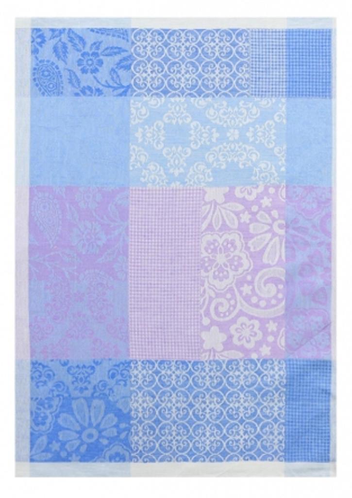 Полотенце кухонное Белорусский лен 17с102/Пилигрим/голубой, голубой, фиолетовый