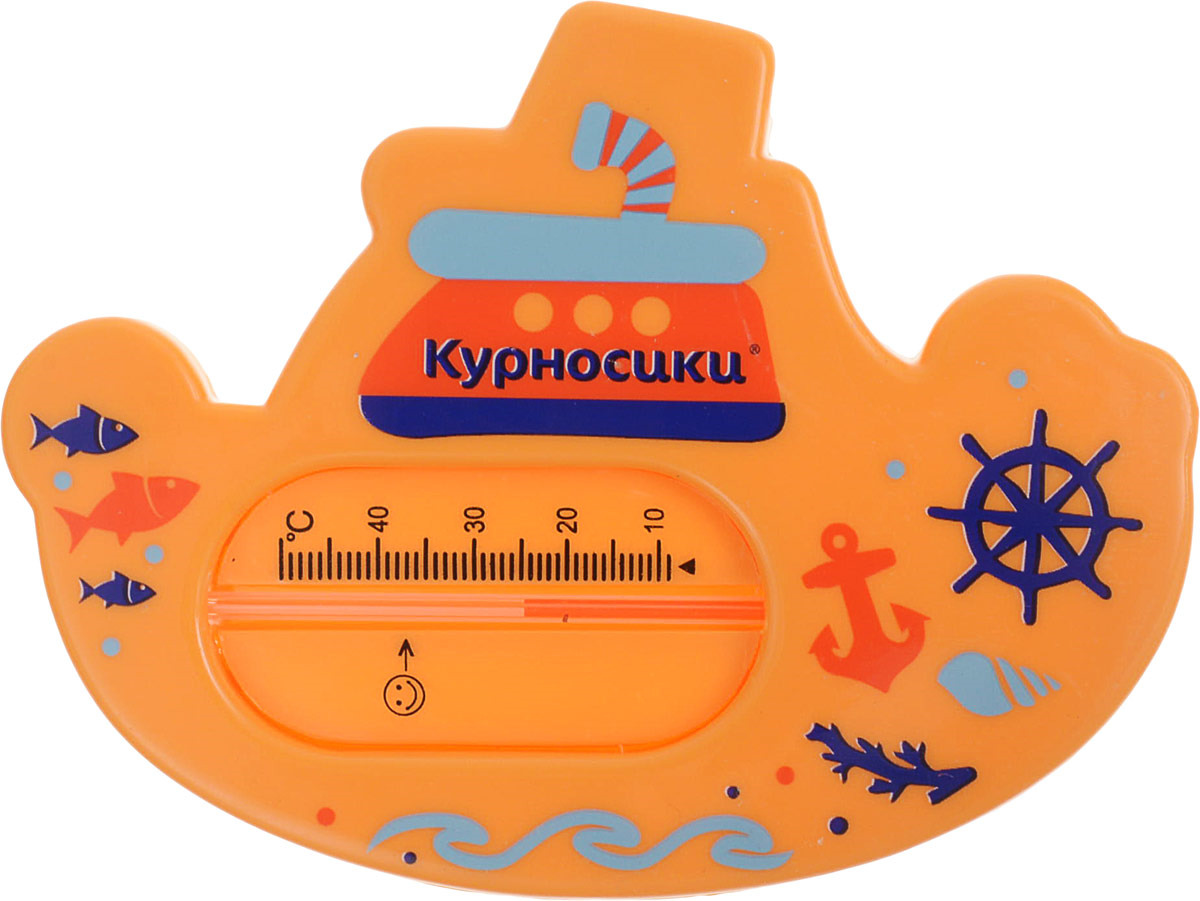 """Термометр для воды Курносики """"Пароходик"""", 19112, оранжевый"""