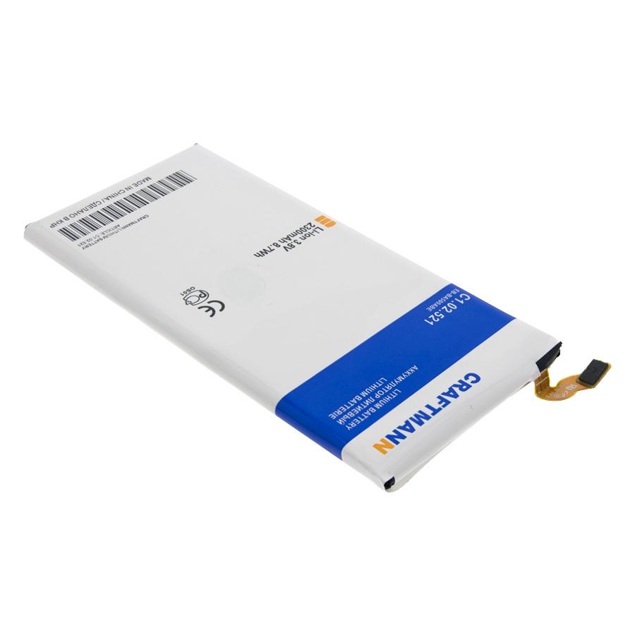 Аккумулятор для телефона Craftmann EB-BA500ABE для Samsung Galaxy A5 (2015) SM-A500F, SM-A500H. аккумулятор для телефона craftmann eb ba500abe для samsung galaxy a5 2015 sm a500f sm a500h