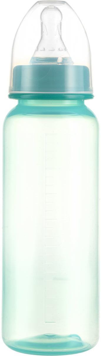Фото - Бутылочка для кормления Курносики, с соской, 11130, зеленый, 250 мл бутылочка для кормления курносики колобок с ручками с силиконовой соской 6мес 250мл