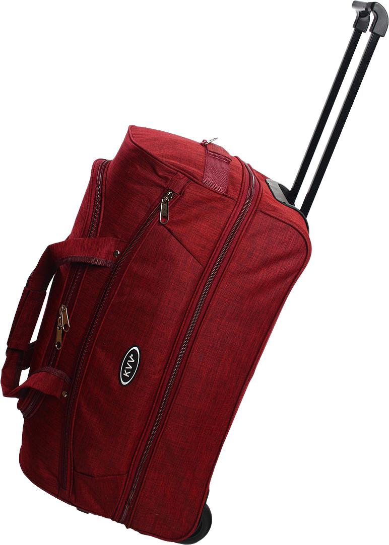 Сумка-тележка Ibag, бордовый, 22211, 58 л сумка тележка хозяйств на колесах с выдвижной ручкой раз сумки33х23х55 см клетка ассорти 4 цв