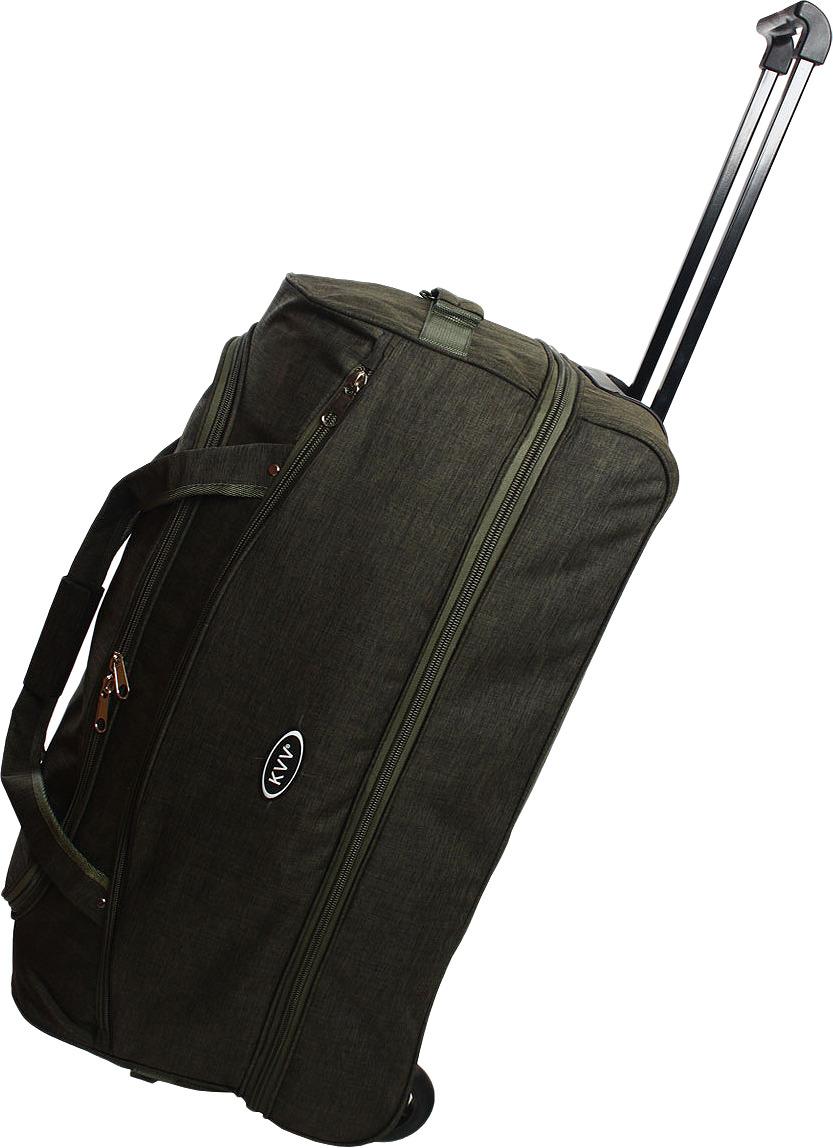 Сумка-тележка Ibag, зеленый, 2826, 80 л сумка тележка хозяйств на колесах с выдвижной ручкой раз сумки33х23х55 см клетка ассорти 4 цв