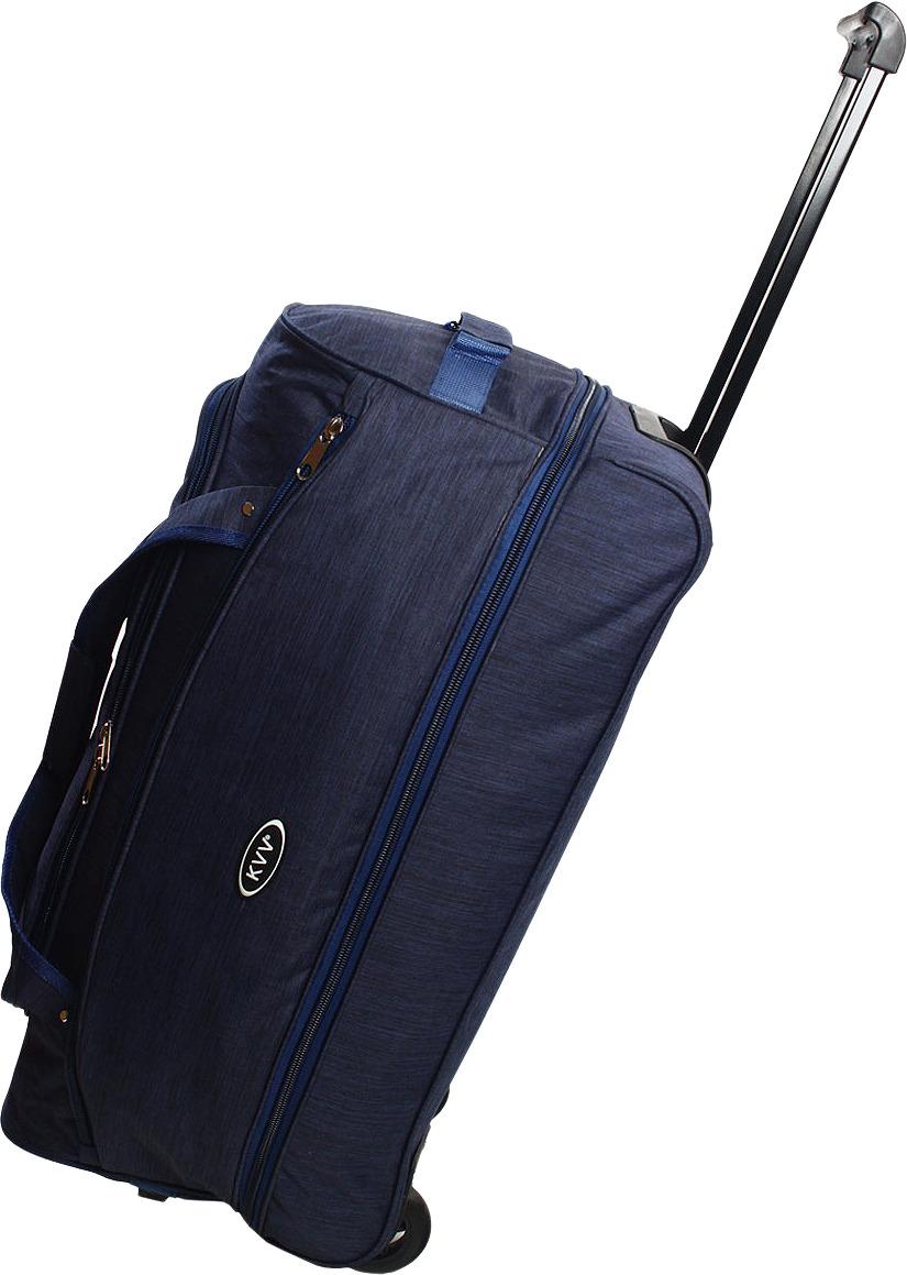 Сумка-тележка Ibag, синий, 2826, 80 л сумка тележка хозяйств на колесах с выдвижной ручкой раз сумки33х23х55 см клетка ассорти 4 цв