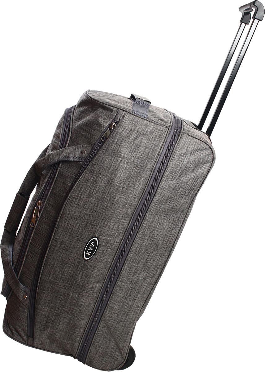 Сумка-тележка Ibag, серый, 2826, 80 л сумка тележка хозяйств на колесах с выдвижной ручкой раз сумки33х23х55 см клетка ассорти 4 цв