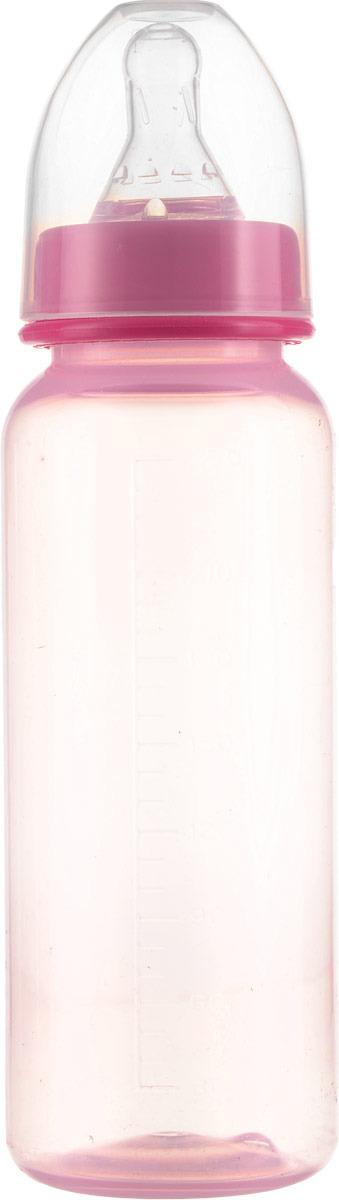 Бутылочка для кормления Курносики, с соской, 11130, розовый, 250 мл