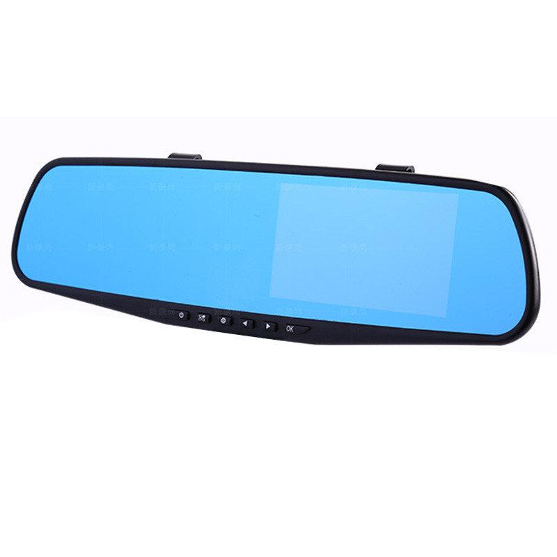 Видеорегистратор-зеркало AUTOLUXE D-001CR+C984+600, черный видеорегистратор зеркало autoluxe 2 камеры 720p hd 1280 720