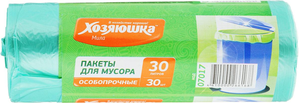 Пакеты для мусора ХОЗЯЮШКА Мила, 30 л, 30 шт пакет для запекания хозяюшка мила 30 х 40 см 5 шт