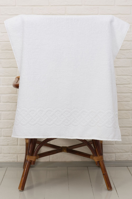 Полотенце банное ДМ люкс Plait 51130101, белый махровое полотенце 30x70 plait ус