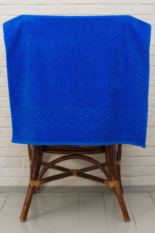 Полотенце банное ДМ люкс Plait 51130148, синий махровое полотенце 30x70 plait ус