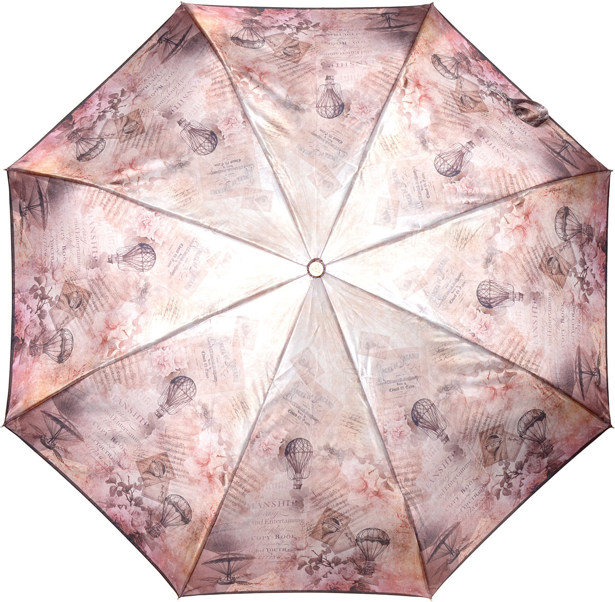 Зонт женский Fabretti, автомат, 3 сложения, цвет: бежевый. L-18115-