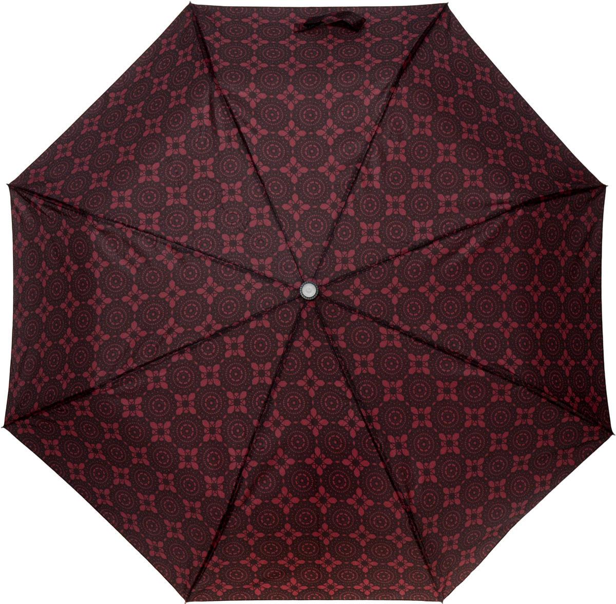 Зонт женский Mitya Veselkov, автомат, 2 сложения, цвет: черный, коричневый. Z0502-01 цена и фото