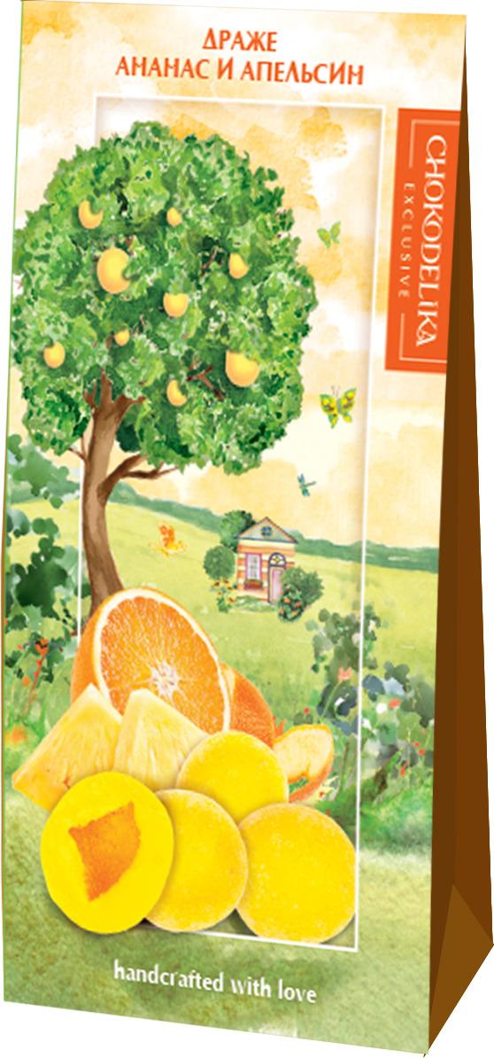 Драже Chokodelika Ананас и апельсин, подарочная коробка, 100 г конфеты chokodelika лимонетты подарочная коробка 100 г