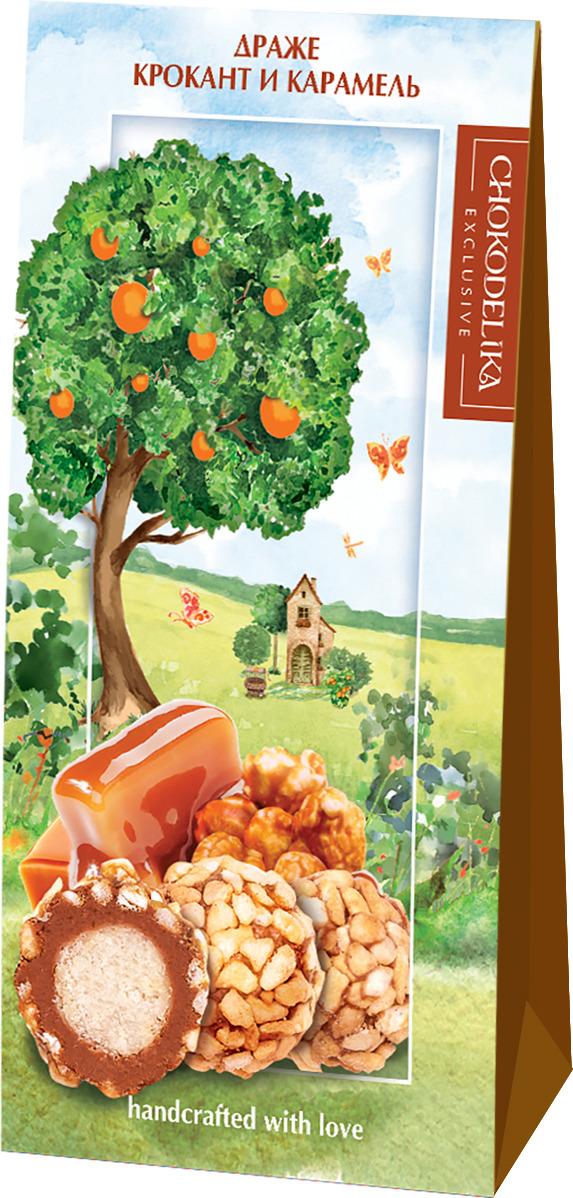 Драже Chokodelika Крокант и карамель, подарочная коробка, 100 г конфеты chokodelika лимонетты подарочная коробка 100 г