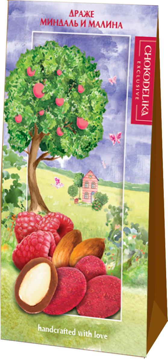 Драже Chokodelika Миндаль и малина, подарочная коробка, 100 г конфеты chokodelika лимонетты подарочная коробка 100 г