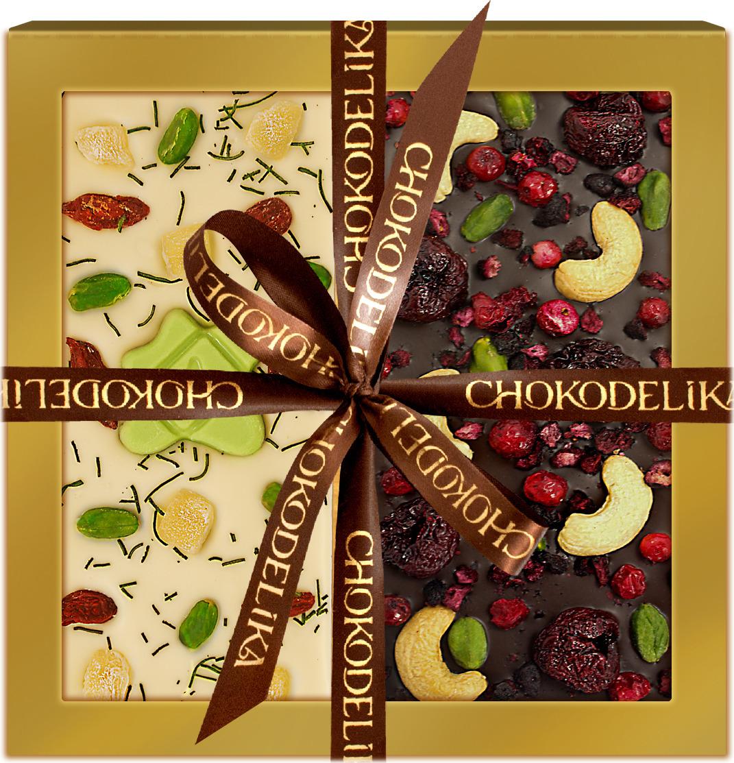 Набор шоколада Chokodelika Праздник днем и ночью, подарочная коробка, 200 г