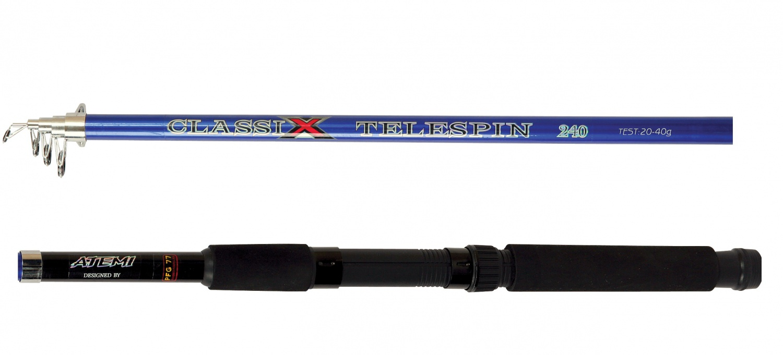 Удилище ATEMI Спиннинг телескопический CLASSIX Telespin 2.10, голубой, темно-синий, синий