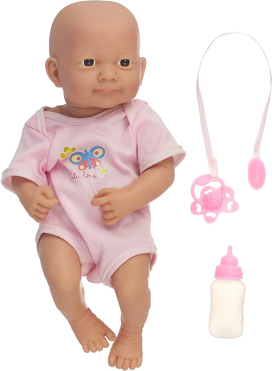 """Пупс """"Малыш"""" 2605012, с аксессуарами, розовый"""
