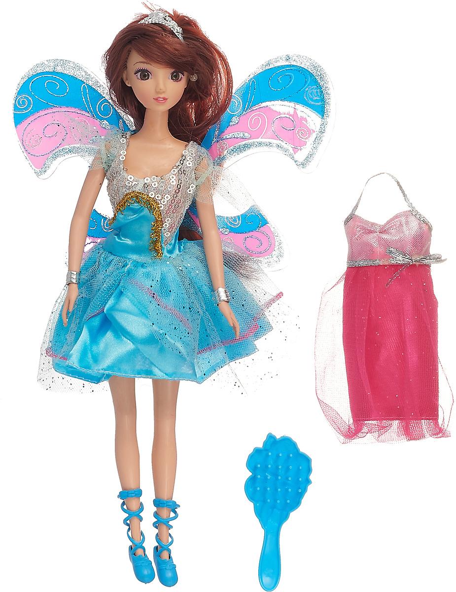 """Кукла """"Лесная фея"""", 2852960, с аксессуарами, 30 см, голубое платье"""