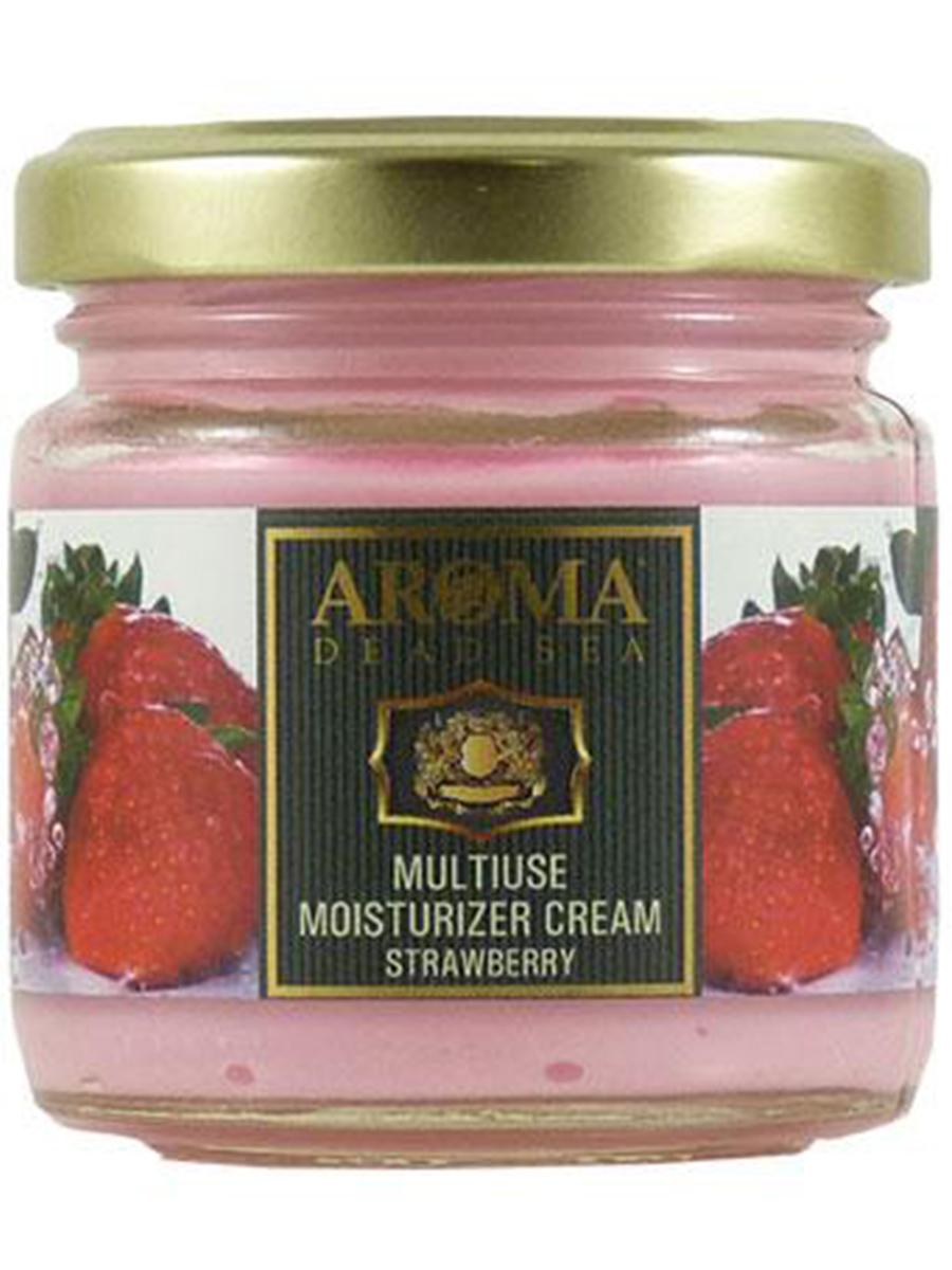 Универсальный Омолаживающий крем для тела Клубника с эфирными маслами и фруктовыми экстрактами 100мл, Aroma Dead Sea недорго, оригинальная цена