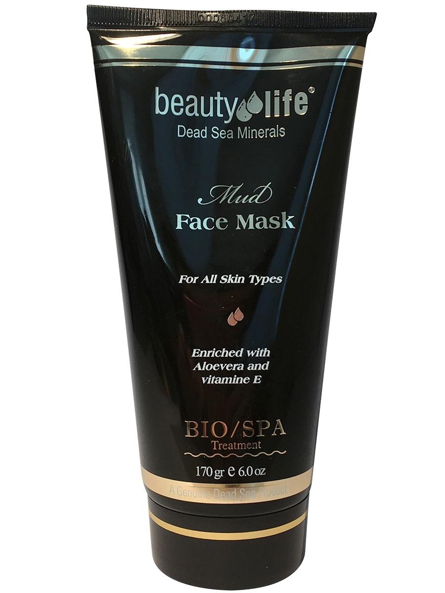 Антивозрастная грязевая маска для лица против морщин с минералами Мертвого моря и Витамином Е, 170мл, Beauty Life
