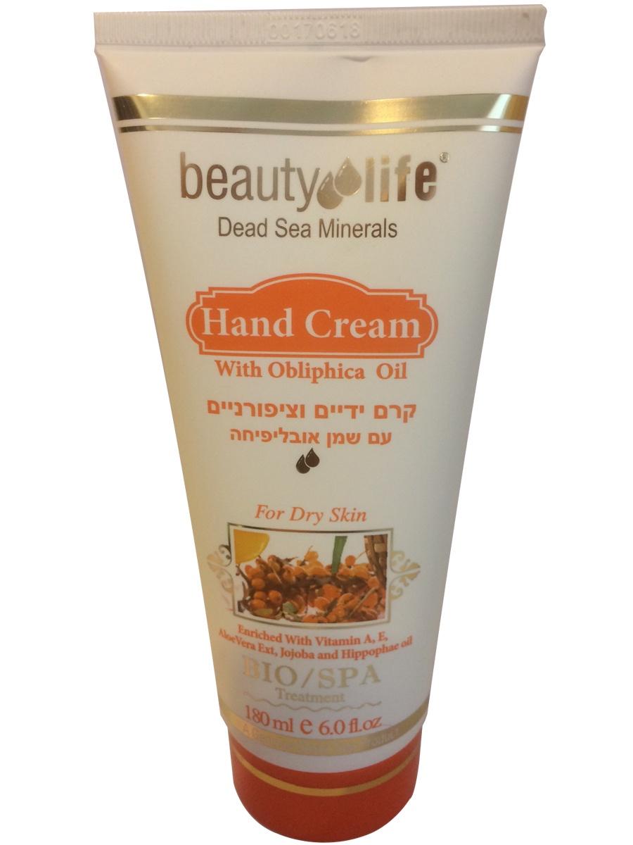 Омолаживающий увлажняющий крем для рук с облепихой, маслами и минералами Мертвого моря, 180мл, Beauty Life