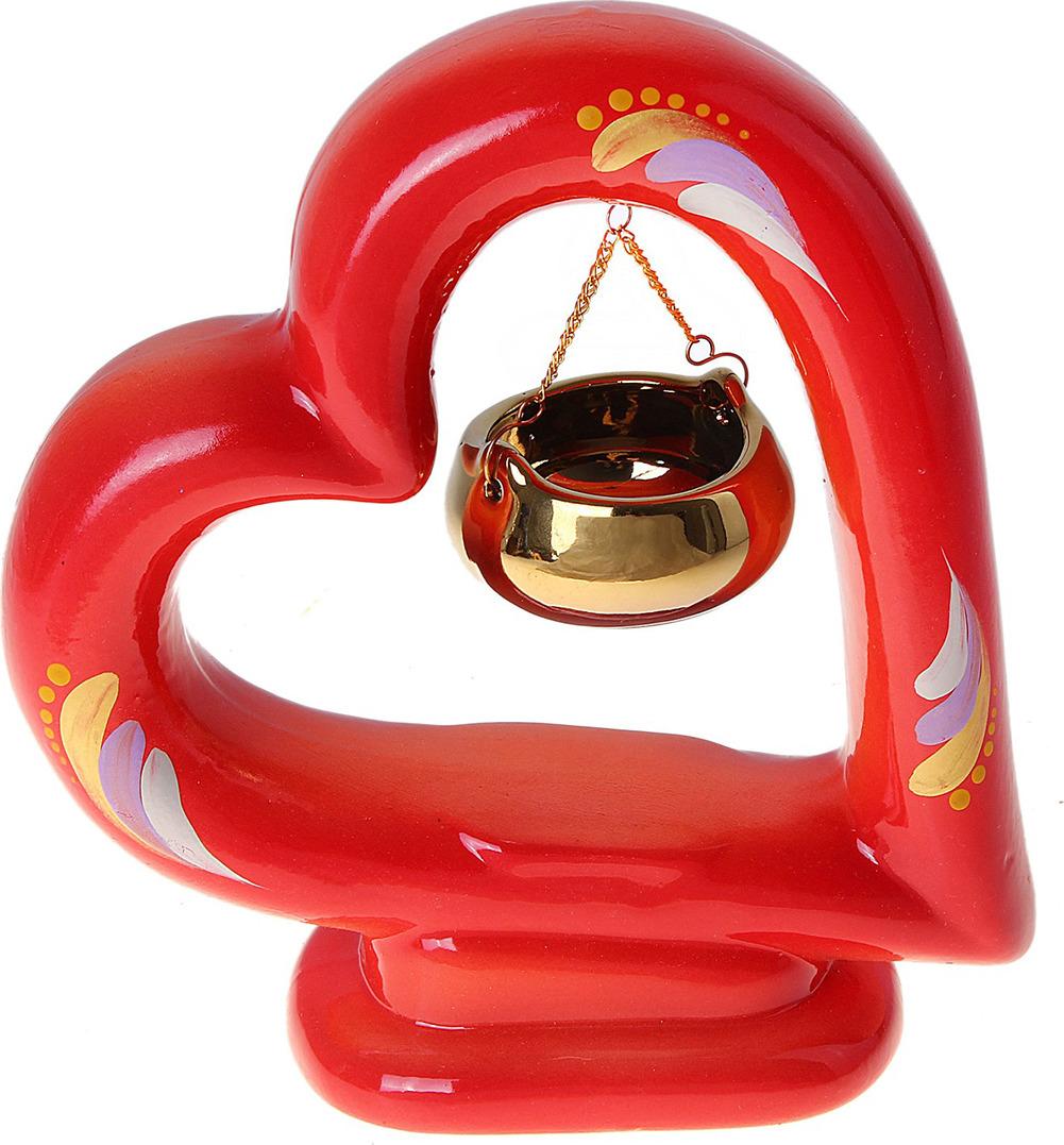 Аромалампа Керамика ручной работы Сердце, 655652 аромалампа сова керамика v105 10 см
