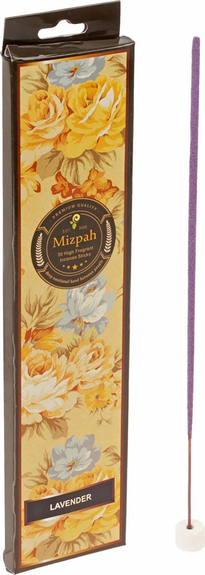 Набор для ароматерапии Mizpah Лаванда, 30 палочек масала с подставкой, 1931035