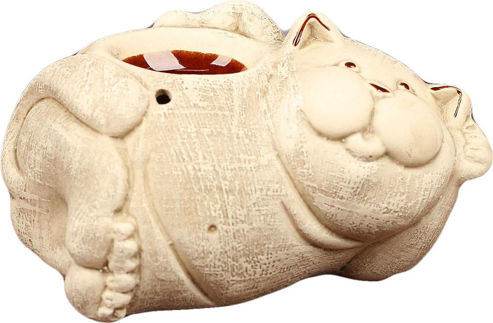 Аромалампа Кот, 2704757, бежевый2704757Аромалампы были изобретены еще в конце XIX века Морисом Берже с целью очистки воздуха в закрытом помещении. Изначально ее использовали в лечебных целях, а с 30-х годов ХХ века аромалампа нашла свое применение в декоре интерьера. Сегодня она служит прекрасным подарком для близких на любой праздник.Аромалампа изготовлена из керамики. Это прочный и безопасный материал. Такая вещь прослужит вам долгие годы.