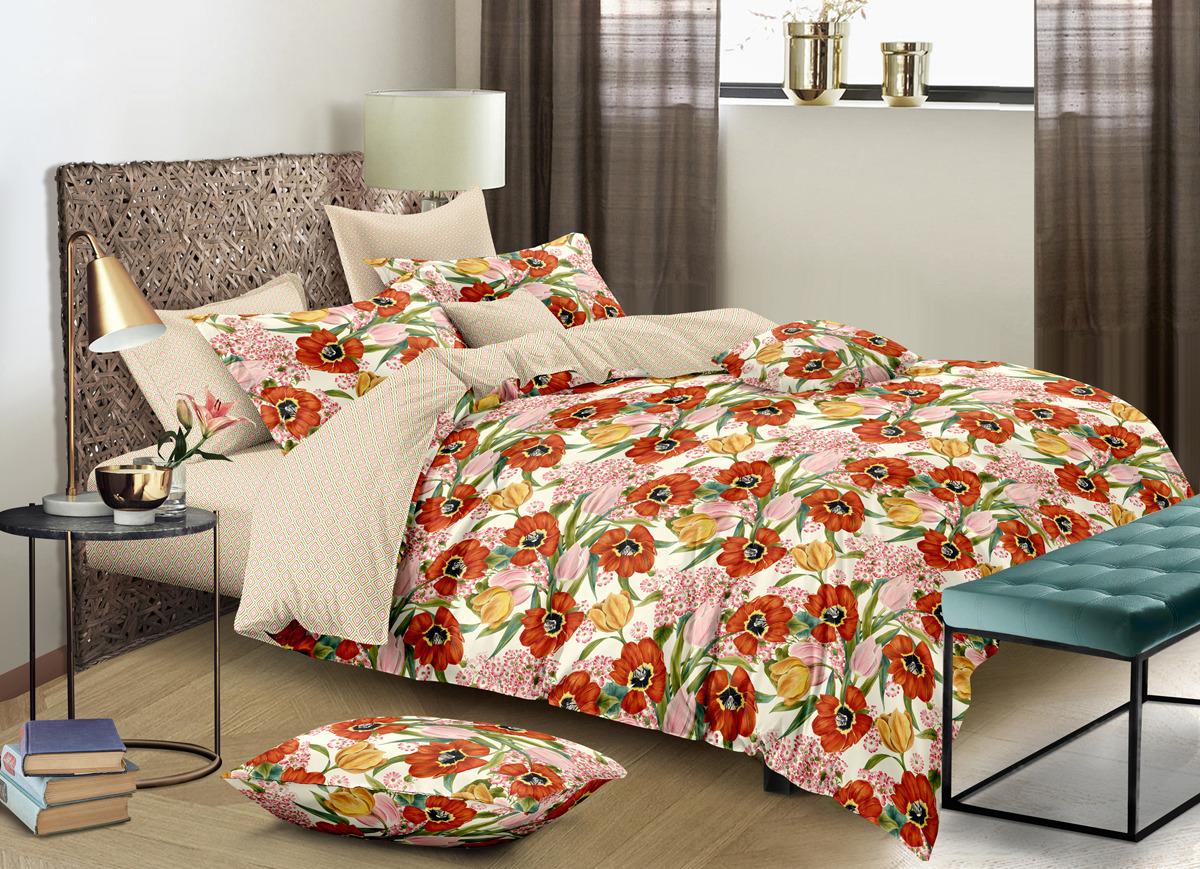 Комплект постельного белья Buenas Noches Lux Francheska, 2-спальный, наволочки 50x70, 70x70