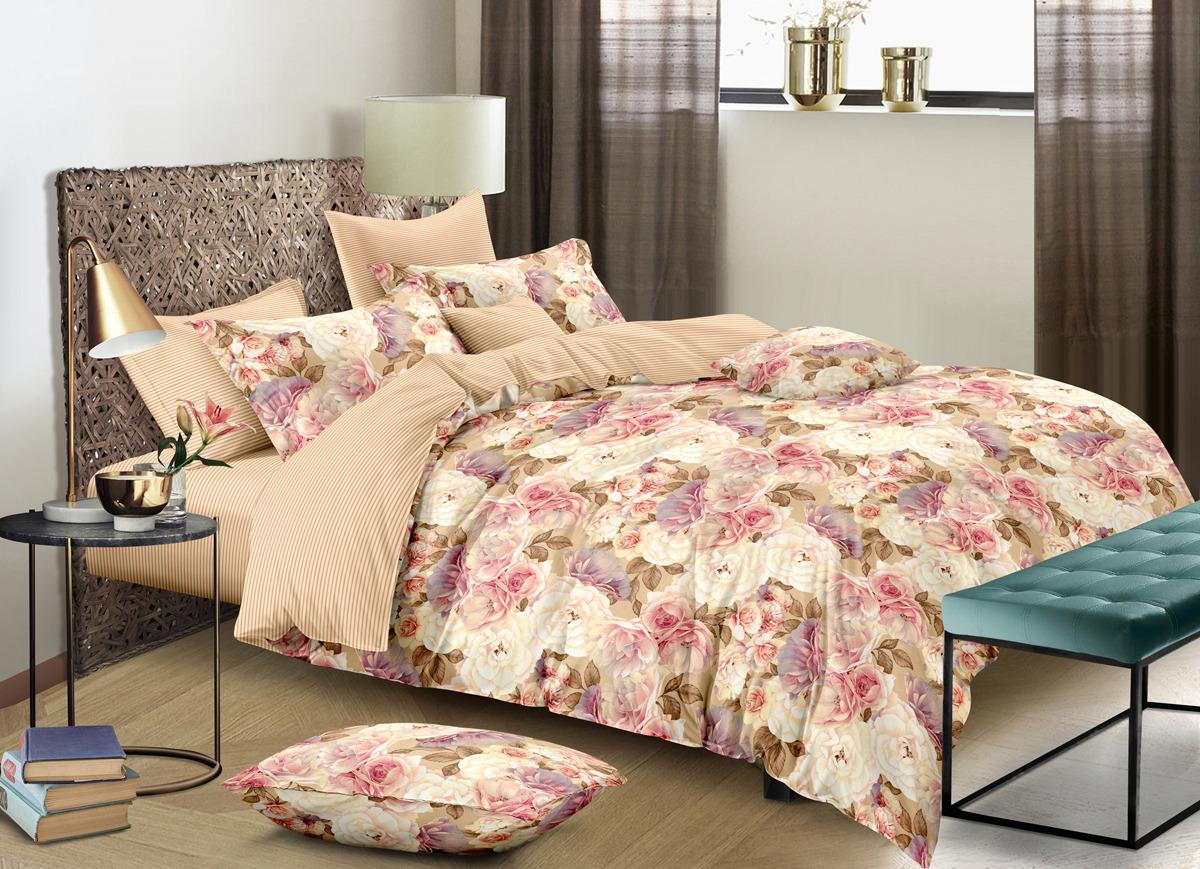 Комплект постельного белья Buenas Noches Lux Beatrice, евро, наволочки 50x70, 70x70
