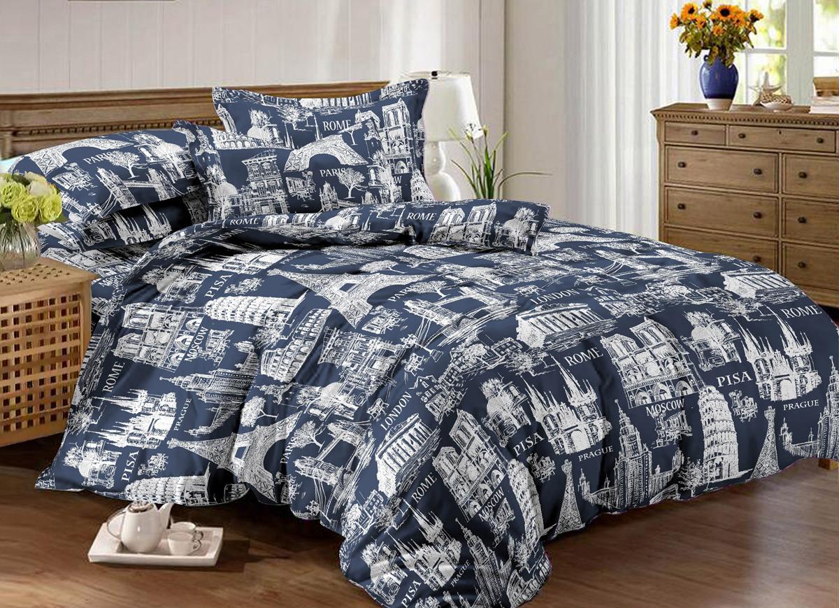 Комплект постельного белья Amore Mio Europe, 1,5-спальный, наволочки 70x70