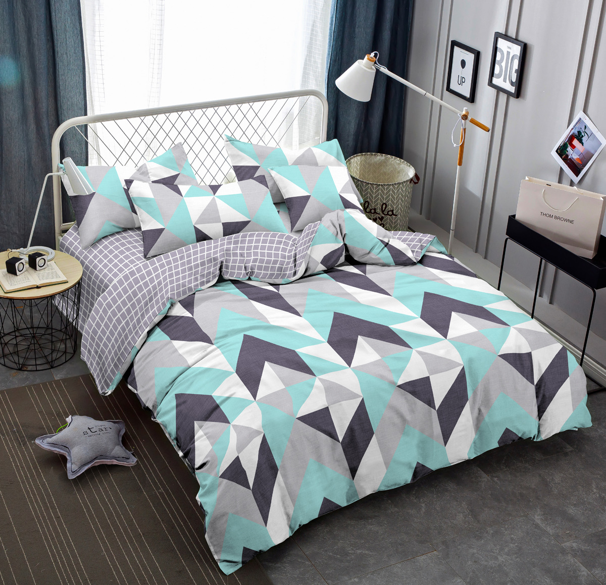 Комплект постельного белья Amore Mio Gold Kvint, 2-спальный, наволочки 70x70