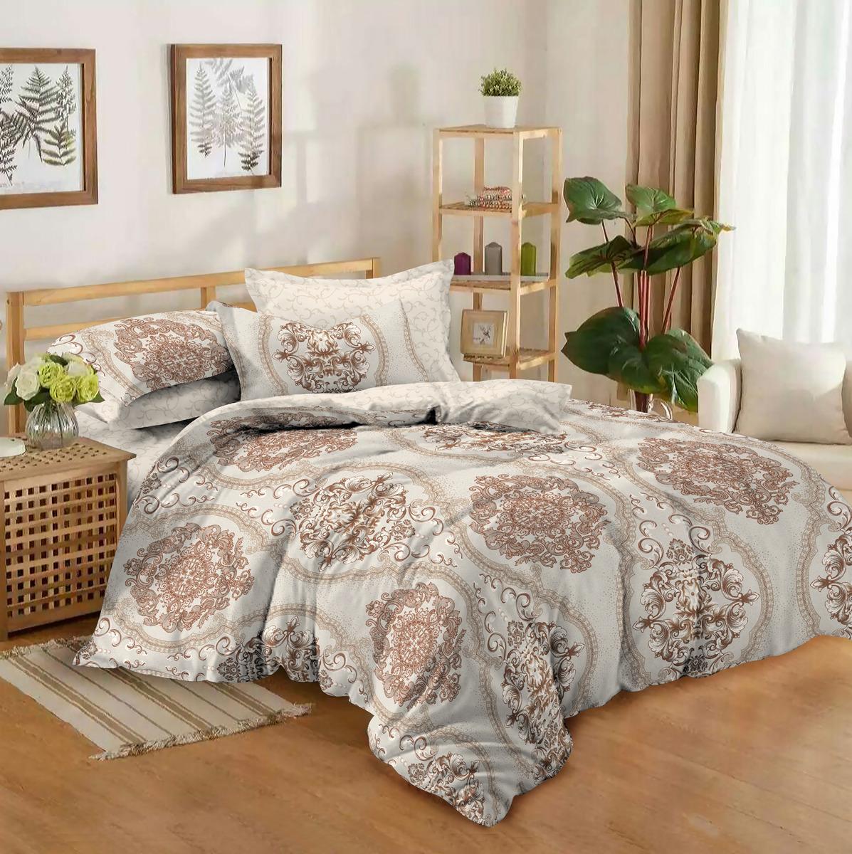 Комплект постельного белья Amore Mio Gold Melissa, евро, наволочки 50x70, 70x70